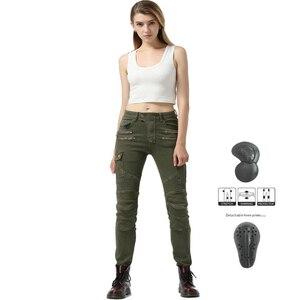 Image 2 - Women Motorcycle Pants Motorcycle Jeans Motocross Pants Moto Motorbiker Biker Riding Pants Pantalon Moto With Protector