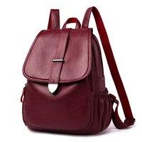 Women's leather backpack 2020 school backpack for girls pommax B19 009 black women's fashion bag
