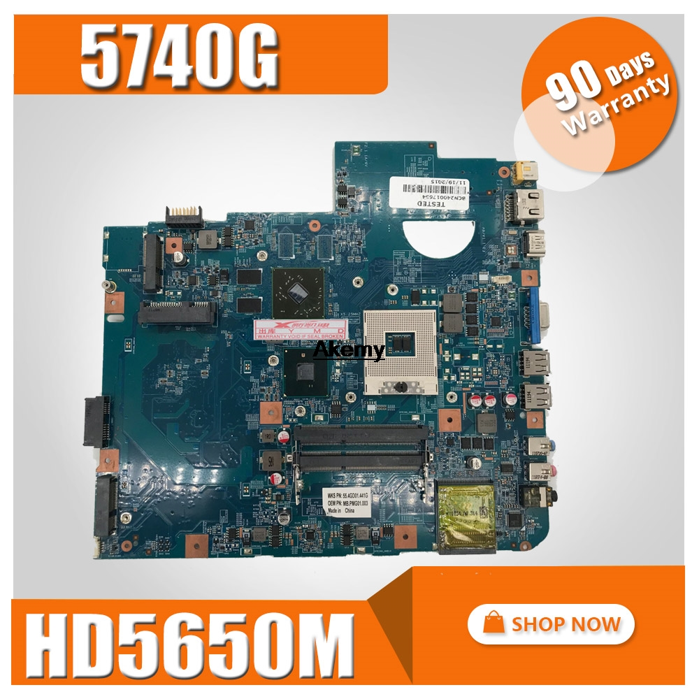 5740G Motherbaord For Acer Aspire 5740 5740G Motherboard 48.4GD01.01M 09285-1M HM55 DDR3 100% Tested Original Mianboard