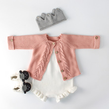 Baby Girls Clothes Autumn Baby Knitted Romper Set Infant Newborn Baby Girl Cardigan Boys Sweater Cotton Baby Jumpsuit For Girls цена и фото