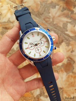 Luxury Fashion Men's Watch Waterproof Rubber strap Automatic Mechanical Wrist Watch With Stainless steel strap Montre homme steel strap tachymeter wrist watch