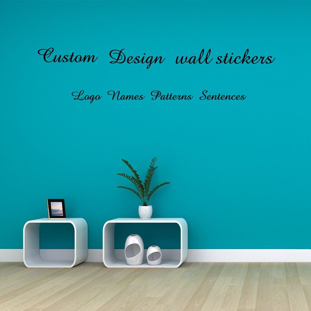 Autocollant personnalisé/nom/Logo/citations/phrases/motifs vinyle mur autocollant papier peint