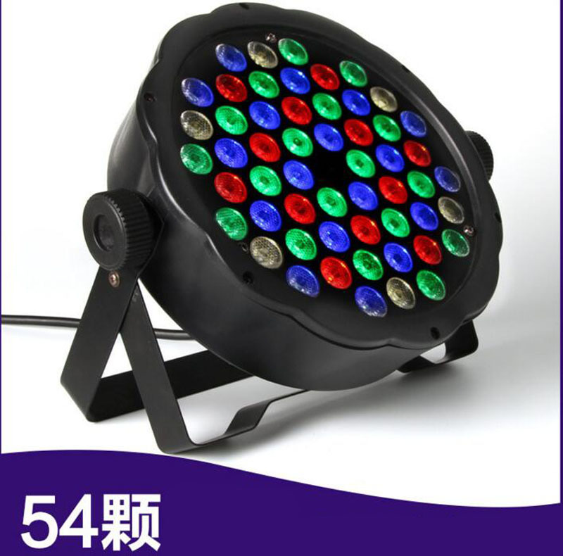 4pcs/lot DMX Control 54 RGBW LED Par Light For Disco Party DJ Bar Lamp Music Show Strobe Projector Stage Lighting Effect