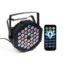 Miniluz LED para discoteca, lámpara Par a todo Color, lámpara de proyección de escenario, barra, luces de discoteca parpadeantes, 36 Uds.