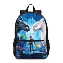 VEEVANV Brand Designer Cartoon How To Train Your Dragon 3D Printing Backpacks For Boys Girls School Bag Bookbag Mochila Escolar