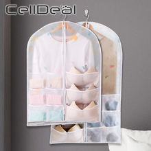 Closet Wardrobe-Organizer Pouch Storage-Bag Hanging Foldable 9-Pockets with 1/3pcs-Set