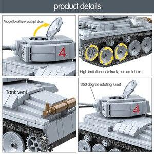 Image 3 - 535 個 technik LT 38 ライト戦車ビルディングブロック軍事陸軍市兵士フィギュア武器レンガ男の子のおもちゃ子供