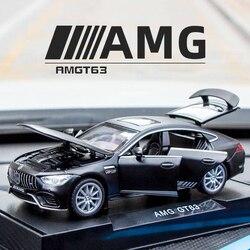 Nieuwe 1:32 Benz Amg GT63 Legering Model Auto Diecasts Speelgoed Voertuigen Auto 6 Deuren Geopend Educatief Auto Speelgoed Voor Kinderen geschenken Jongen