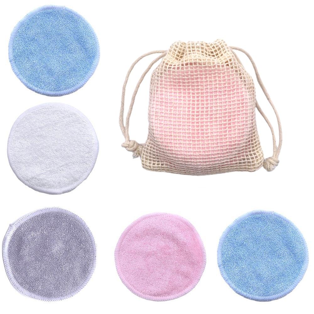 Многоразовый бамбуковый подушечки для снятия макияжа хлопок, в партии 10 салфетками из микрофибры для чистки оптических моющиеся патронов для чистки инструменты для ухода за лицом снятия макияжа Pad|Средство для снятия макияжа|   | АлиЭкспресс