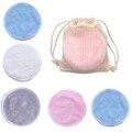 Многоразовый бамбуковый подушечки для снятия макияжа хлопок, в партии 10 салфетками из микрофибры для чистки оптических моющиеся патронов д...
