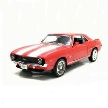 """1/36 בקנה מידה ארה""""ב 1969 קמארו SS בציר Diecast מתכת רכב דגם צעצוע לילדים יום הולדת מתנת אוסף משלוח חינם"""