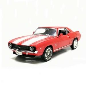 Image 1 - Camaro, 1/36, échelle américaine, modèle de voiture en métal moulé, 1969, échelle, jouet, Collection cadeau danniversaire pour enfants, livraison gratuite