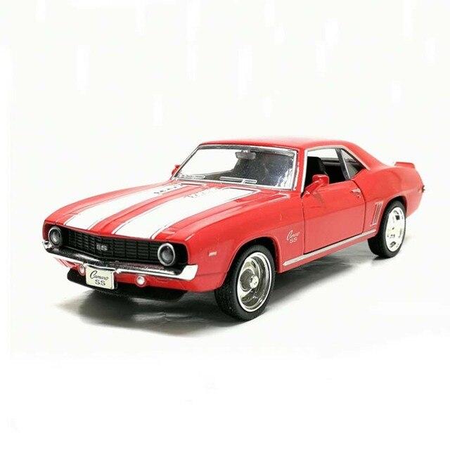 Camaro, 1/36, échelle américaine, modèle de voiture en métal moulé, 1969, échelle, jouet, Collection cadeau danniversaire pour enfants, livraison gratuite