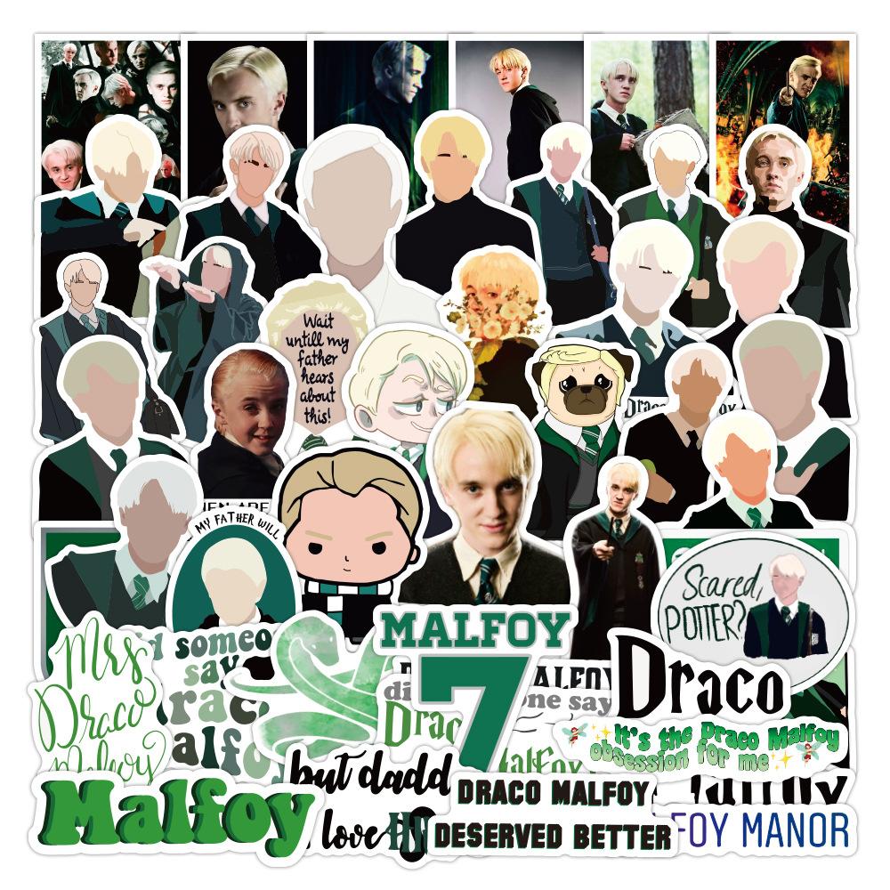 100 pz//pacco Draco Malfoy Classic Etichetta Adesivi per Notebook Moto Skateboard Computer Cellulare Decalcomania Cartoon Toy Cars