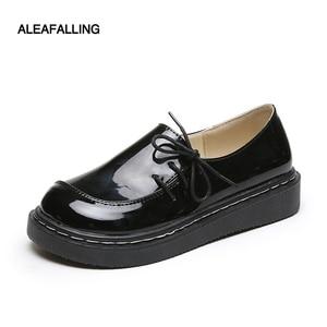 Aleafalling/классические женские ботинки; изящная простая умная Обувь На Шнуровке; дышащие из мягкой кожи для девочек; Демисезонные ботинки на пл...