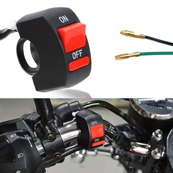 Interruptor de encendido/apagado de LEEPEE para motocicleta, botón Universal Negro para motocicleta, interruptor de apagado de manillar para Moto, Motor ATV, bicicleta