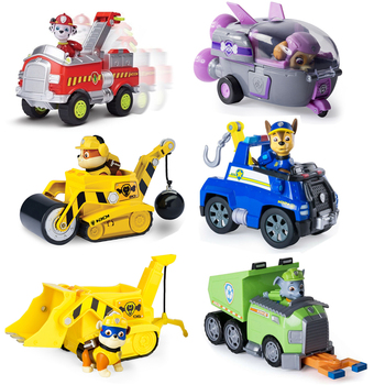 Paw Patrol Rescue Vehicle Puppy Patrol Anime Simulation Action Figure Forest Rescue Series Patrulla cachorro Birthday Set цена 2017
