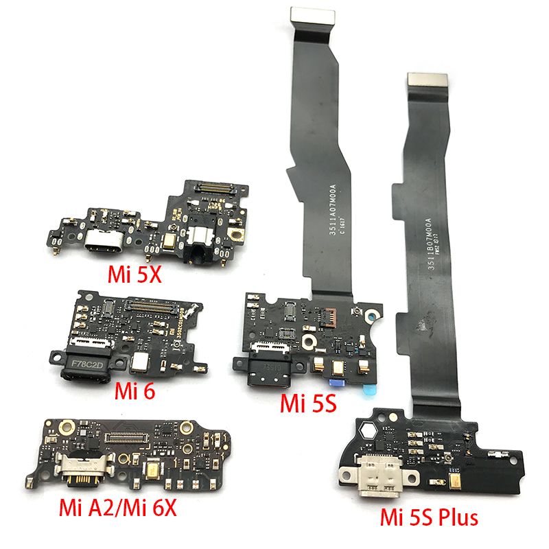 USB Charge Port Jack Dock Connector Charging Board Flex Cable For Xiaomi Mi A1 A2 5 Mi5 Mi6 5S Plus Note 2 5X 6X