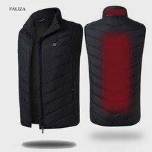 FALIZA Gilet chauffant USB pour hommes, Gilet thermique chaud sans manches, vêtement dhiver, plume, MJ117
