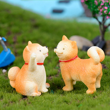 Shiba Inu Dog Figurine Miniatures Home Decoration Kawaii Accessories Garden Decor
