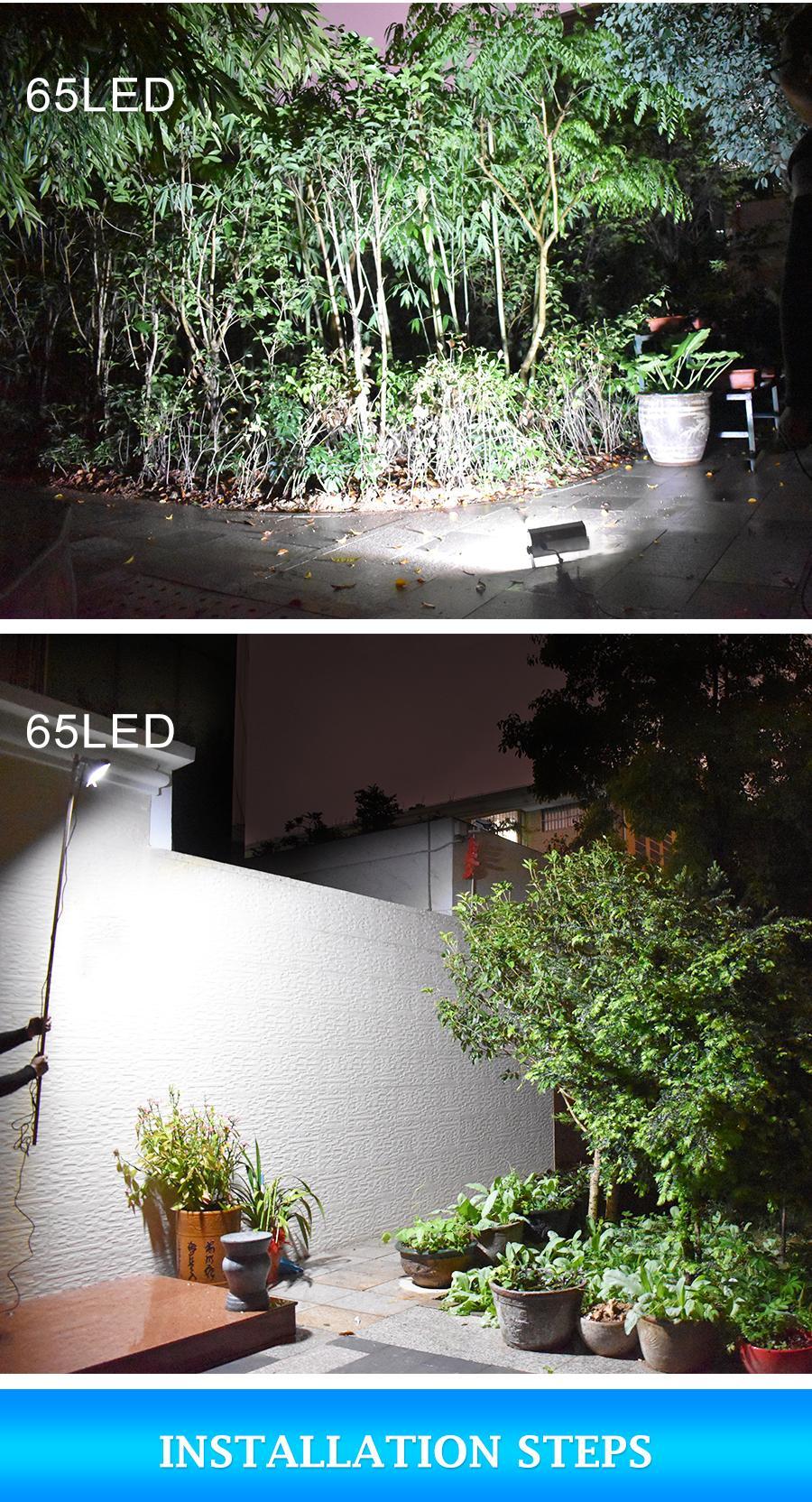 1500lm Luzes Solares Do Jardim Ao Ar