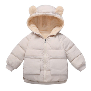 2019 Winter Boys Coat Children Clothes Long Sleeve Kids Jacket For Girls Warm Outerwear Zipper Hooded Jackets For Boys Clothes(China)