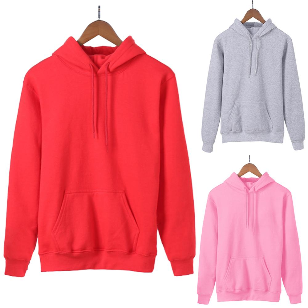 Simple Women Hoodies Autumn Solid Color Long Sleeve Drawstring Sweatshirt Sports Hoodie White Black Grey Pink Colors толстовка