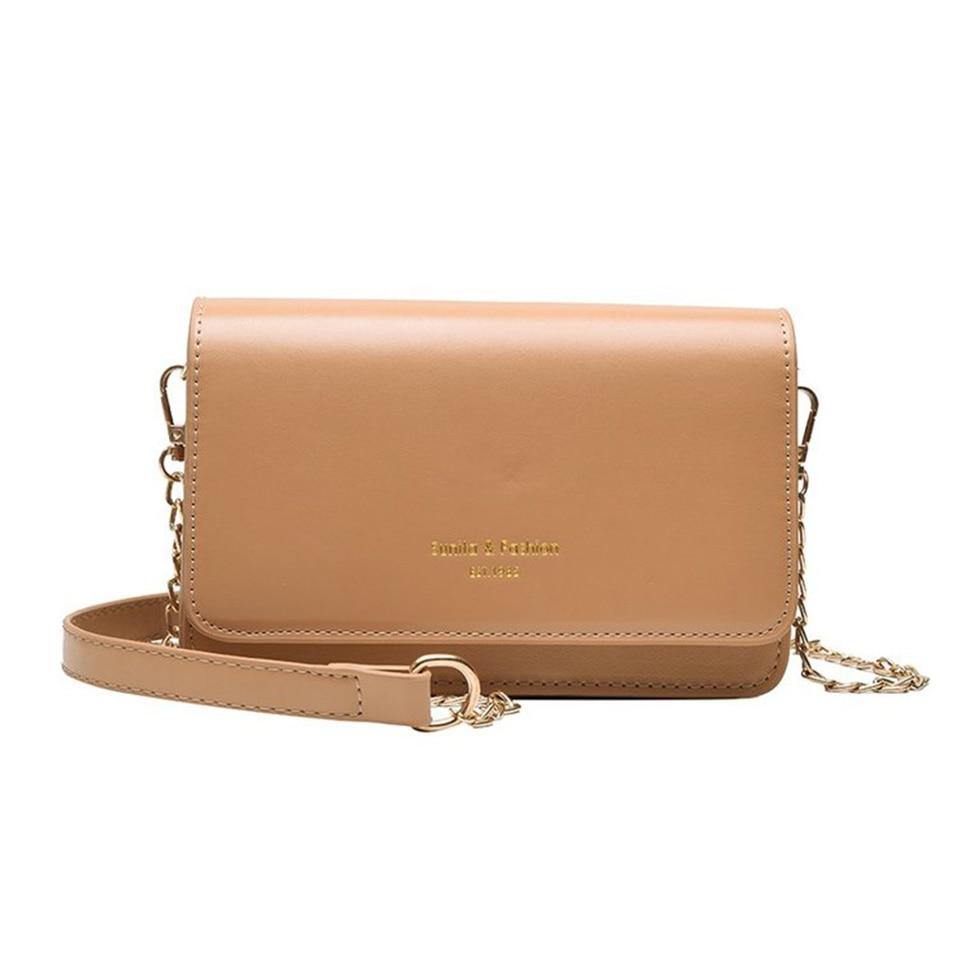 Women Crossbody Shoulder Bags Ladies Small Flap Purses Chain Designer Girls PU Leather Messenger Bag Khaki Phone Bags Bolsa