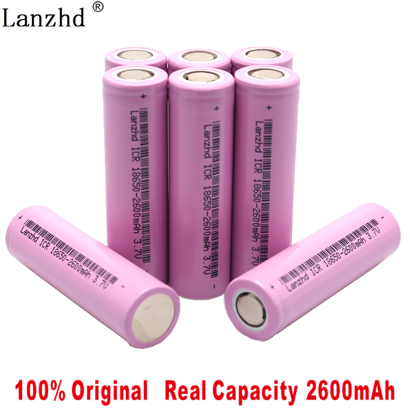 2019 New Original 3.7V ICR18650 For samsung 18650 26F batteries Rechargeable Li-ion battery 2600mAh For Flashlight use(1-8pcs) image