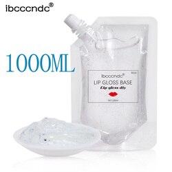 1000ML DIY, Gel Base de brillo de labios transparente, lápiz labial hidratante, Material de Gel para DIY, Kit de brillo de labios, lápiz labial líquido hecho a mano Mak