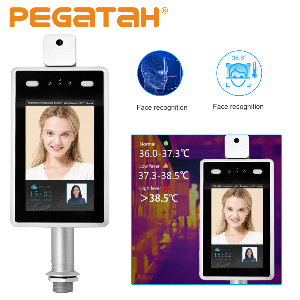 7inch Facial Recognition Camera Thermal Infrared HD Camera 2MP Human Body Temperature Detect Access Control