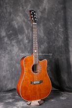 Finlay Cutaway 41 Acoustic Guitar,Solid Spruce Top/Mahogany Body guitar, guitars china,FX-D314CB,Blowncolor