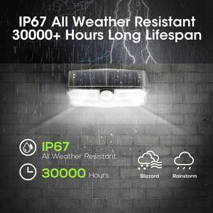 Image 4 - 4 حزمة 40 LED أضواء الشمسية LITOM CD182 جهاز استشعار حركة للأماكن الخارجية لوحة طاقة شمسية عالية الكفاءة مصباح IP66 لوز الشمسية Led الفقرة الخارجية