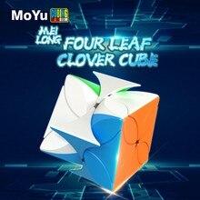 MoYu Meilong dört yapraklı yonca sihirli küp Stickerless bulmaca 4-Leaf hız küp eğitici oyuncaklar çocuk hediyeler için