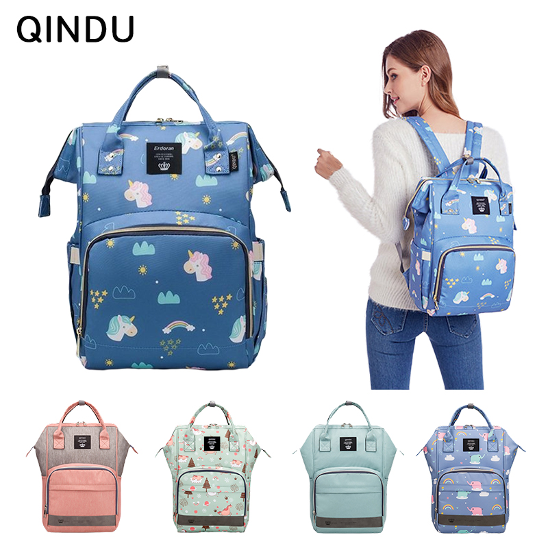 Large Diaper Bag Backpack Portable 0.72kg Multifunction Nappy Handbag Organizer 0-3y Baby Care Mummy Bags Waterproof and Stylish