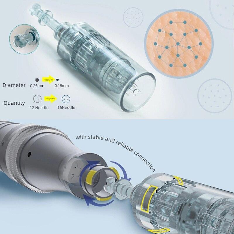 sistema de microneedling de kit de cuidados com a pele recarregável