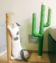 Sisal Rope for Cat Tree Cat Climbing Frame DIY cats scratching post toys making desk legs binding rope for cat sharpen claw cat tree with sisal scratching post 95 cm