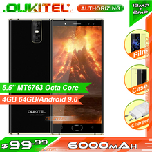 "OUKITEL K3 Pro 5.5"" FHD MT6763 Octa Core Android 9.0 Smartphone 4GB 64GB 6000mAh 9V/2A Fingerprint Face ID Mobile Phone"