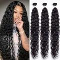 30 дюймов пупряди волнистых пряди ков 3 шт. перуанские человеческие волосы пучки 40 дюймов пупряди влажные и волнистые волосы для наращивания ...