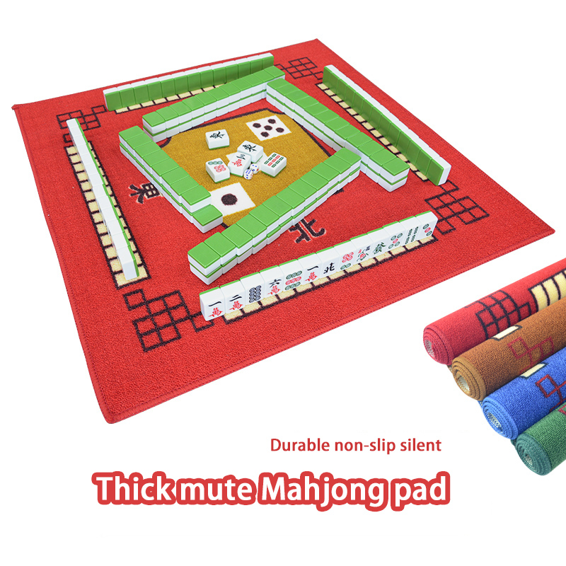 Household Mahjong Muffler Pads Flannel Table Cloth Family Party Game Mini Table Mat Rub Mute Anti-skid Poker Mahjong Carpet
