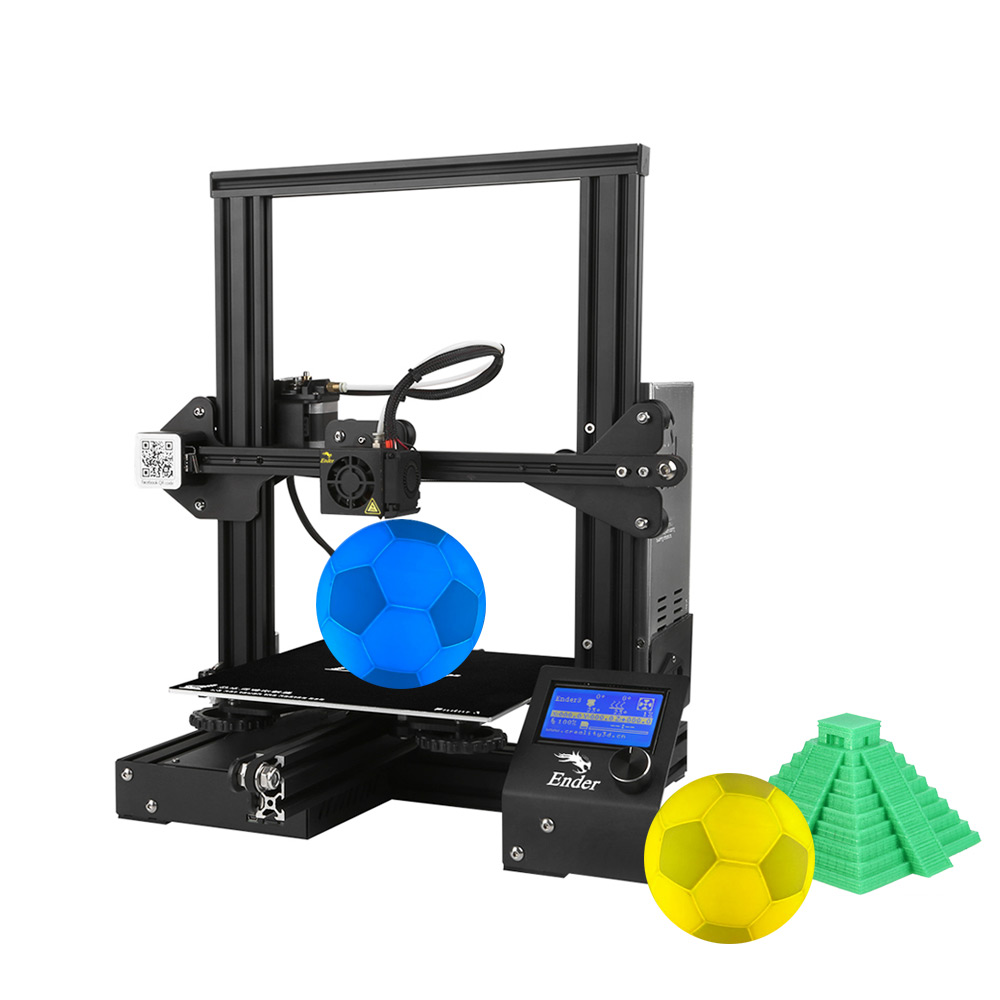Image 2 - Creality 3D Ender 3 3D Printer High precision DIY Kit Self assemble with Resume Printing Function Add 1KG Filament Optional-in 3D Printers from Computer & Office
