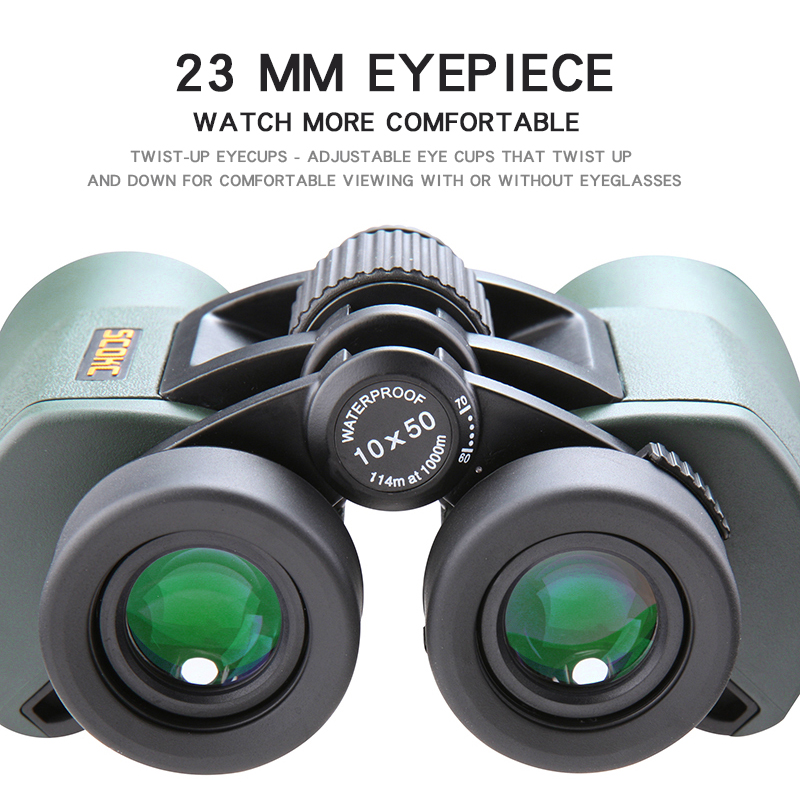 Image 5 - SCOKC Hd 10X50 powerful zoom Binoculars telescope for hunting  professional high quality no Infrared army Low night  visionMonocular/Binoculars