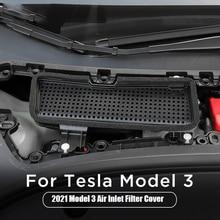 Auto Air Flow Vent Abdeckung für Tesla Modell 3 2021 Zubehör Klimaanlage Lufteinlass Schutzhülle Auto Luftfilter