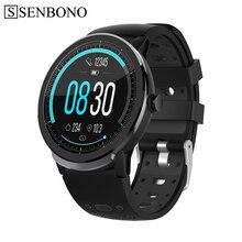 Senbono S10proフルタッチスマート腕時計男性女性スポーツ時計心拍数睡眠モニターリストバンドスマートウォッチiosのandroid携帯