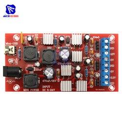 Diymore 5 -24 В до ± 12 В ± 5 в 3,3 В мини USB двойной блок питания Boost одноповоротный Модуль линейный регулятор блок питания DIY Kit