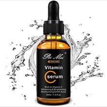 Suero Facial de vitamina C de larga duración, hidratante, mejora la rugosidad, alivia las manchas, esencia para el rostro con ácido hialurónico, 30ml