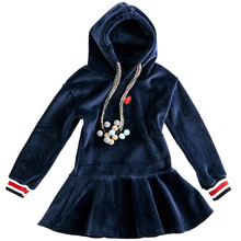 4 14Y genç kızlar kış sevimli elbiseler kapüşonlu süveter artı kadife Tutu elbise genç çocuk rahat elbise çocuk giyim kostümleri