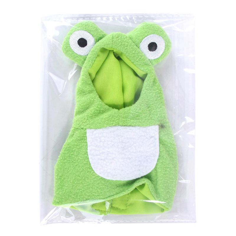 Funny Frog Shaped Birds Clothes Parrots Costume Cosplay Winter Pet Accessories