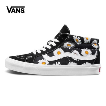 VANS VN0A391FTOZ Men/Women Sports Skateboard shoes new small daisy sunflower black low ERA canvas casual shoes Size Eur 36-44