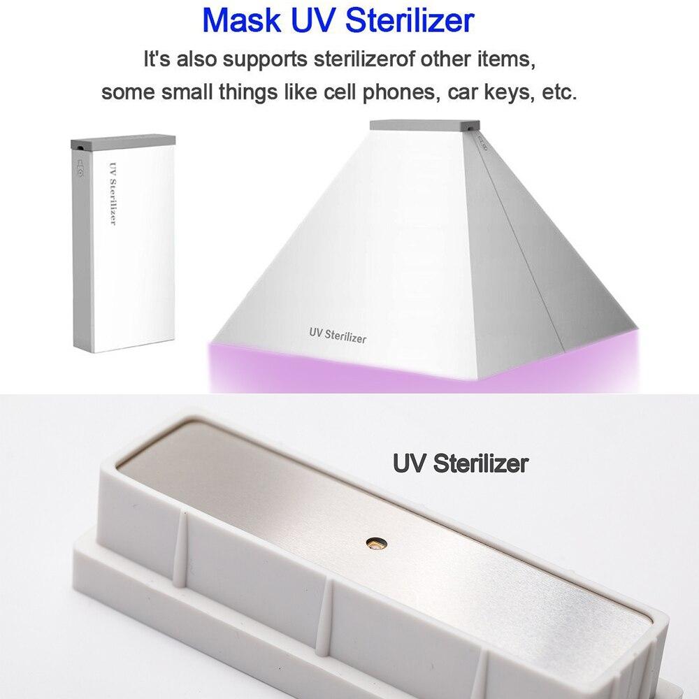 5V Led Light Phone Mask UV Sterilizer Box Jewelry Cleaner USB Uv Sanitizer стерилизатор Disinfection Cabinet Esterilizador